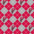 Ohio State University Buckeyes Fleece Fabric -Argyle