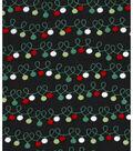 Holiday Showcase Christmas Cotton Fabric 43\u0027\u0027-Christmas Lights on Black