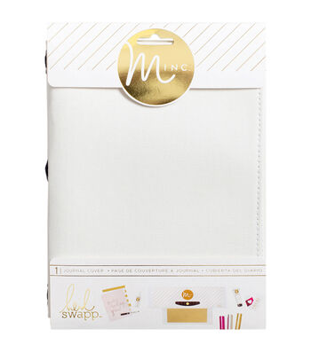 "Heidi Swapp Minc Journal Cover 6""X9""-White Canvas"