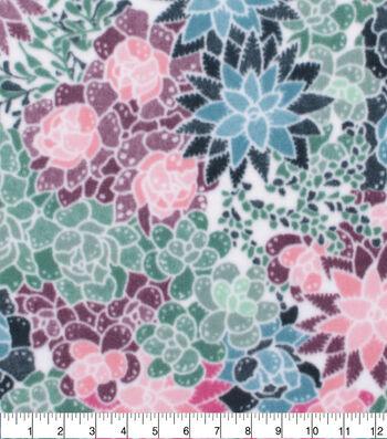 Anti-Pill Plush Fleece Fabric-Pastel Floral