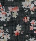Silky Gauze Fabric 56\u0022-Asian Floral