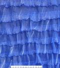 Casa Embellish Gardinia Double Ruffle Fabric 57\u0027\u0027-Dazzling Blue