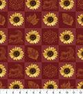 Harvest Cotton Fabric -Sunflower Patchwork