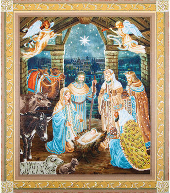 "Diamond Embroidery Facet Art Kit 37.2""X43.2""-Nativity Scene"