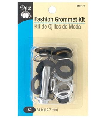 "Dritz 1/2"" Fashion Grommet Kit-Black"