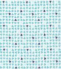 Cloud 9 Organic Cotton Flannel Fabric -Hearts Blue