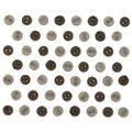 Jesse James Dress It Up Round Button Embellishments-Greige