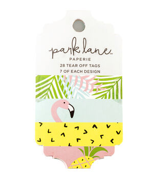 Park Lane Paperie 28 pk Tear off Tags-Tropical