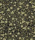 Vintage Cotton Fabric 43\u0022-Tossed Vines Black