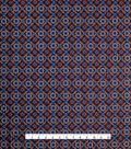 Varsity Club Stretch Silk Fabric -Medallion