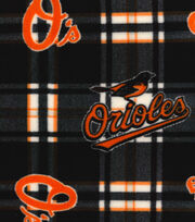"Baltimore Orioles Fleece Fabric 58""-Plaid, , hi-res"