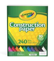 """Crayola Construction Paper Pad 9""""X12""""- 240 Sheets/Pkg, , hi-res"""