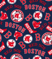 Cooperstown Boston Red Sox Cotton Fabric, , hi-res
