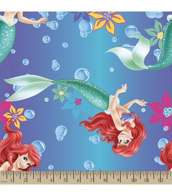 Disney Princess Print Fabric-Ariel Ombre