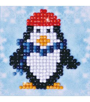 Diamond Dotz Diamond Embroidery Art Kit 4.75''X4.75''-Penguin Waddle