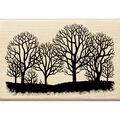 Inkadinkado Tree Silhouette Wood Mounted Stamp