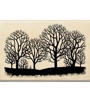 Inkadinkado Tree Silhouette Wood Mounted Stamp, , hi-res