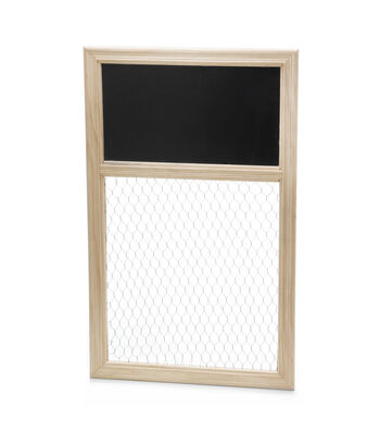 Chicken Wire & Chalkboard Unfinished Frame