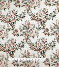 Silky Stretch Chiffon Fabric-White Multi Floral Spray