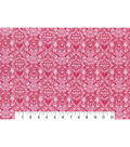 Modern Premium Cotton Print Fabric 43\u0027\u0027-Pink Scrolling Medallions