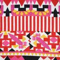 Fast Fashion Bubble Crepe Knit Fabric-Geranium Mantra