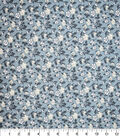 Premium Quilt Cotton Fabric-Ditsy Floral On Blue