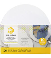 Wilton 6-Inch Round Cake Boards, 10-Count, , hi-res