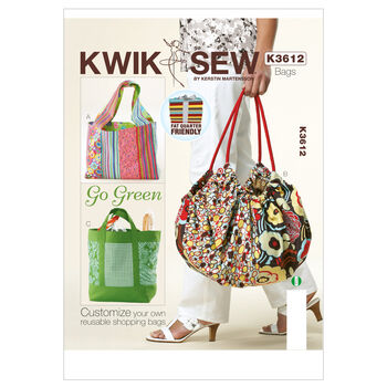 Kwik Sew Crafts Totes & Bags-K3612