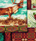 Quilt Cotton Fabric 43\u0022-Animal Patch Cotton Fabric