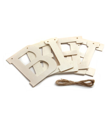 Fab Lab Word Banner of Wood Letters-Believe