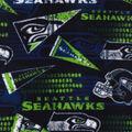 Seattle Seahawks Fleece Fabric -Retro