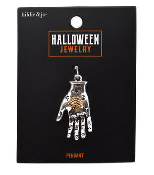 hildie & jo Halloween Jewelry 3D Two Part Casting Hand Pendant
