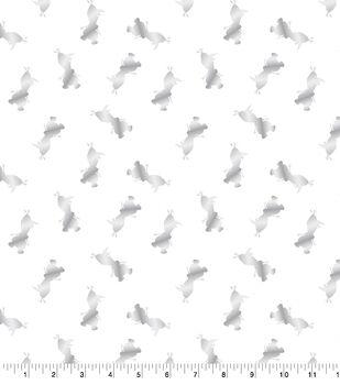 Glitterbug Frozen 2 Toss Velvet with Foil Fabric-Olaf