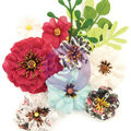 Prima Marketing Mulberry Paper Flowers-Sunset/Midnight Garden