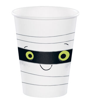 Maker's Halloween 10 pk 7.09''x3.54'' Paper Cups-Mummy