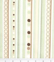 "Nursery Cotton Fabric 43""-Monkey Stripe, , hi-res"