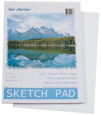 "Sketch Pad 9""X12"" 50 Sheets/Pkg-"