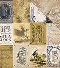 Transatlantic Travel Double-Sided Cardstock 12\u0022X12\u0022-Journaling Cards