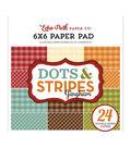 Echo Park Double-Sided Paper Pad 6\u0022X6\u0022 24/Pkg-Autumn Gingham