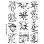 Stampers Anonymous Large Cling Rubber Stamp Set Mini Blueprint, , hi-res