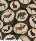 No Sew Fleece Throw Kit 72\u0022-Log Wilderness Shilouette