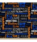Blizzard Fleece Fabric 59\u0022-Basketball Words