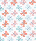 Snuggle Flannel Fabric -Pastel Butterflies