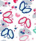 Snuggle Flannel Fabric -Polka Dot Butterflies