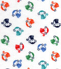 Nursery Flannel Fabric -Monkey