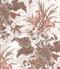 Vintage Cotton Fabric 43\u0027\u0027-Orange Bird & Floral