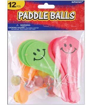 Party Favors 12/Pkg-Paddle Ball