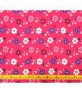 Doodles Juvenile Apparel Fabric-Pink Floral Interlock