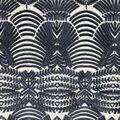Embroidered Mesh Decor Fabric-Mazarine Blue