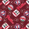 Cooperstown Philadelphia Phillies Cotton Fabric